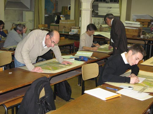 Eleves de géotechnique au travail